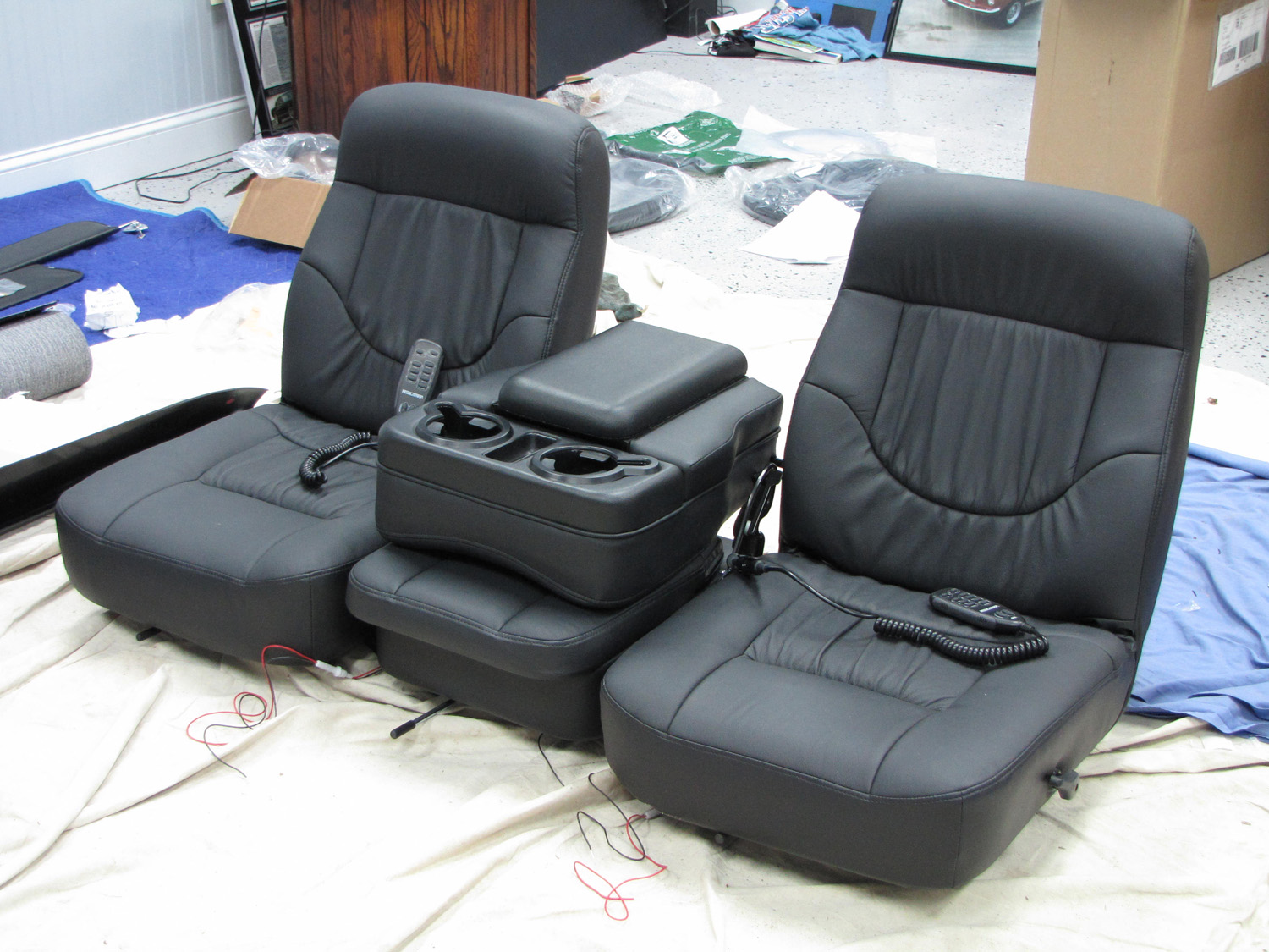 F Powerstroke Seats on rear view mirror camera system