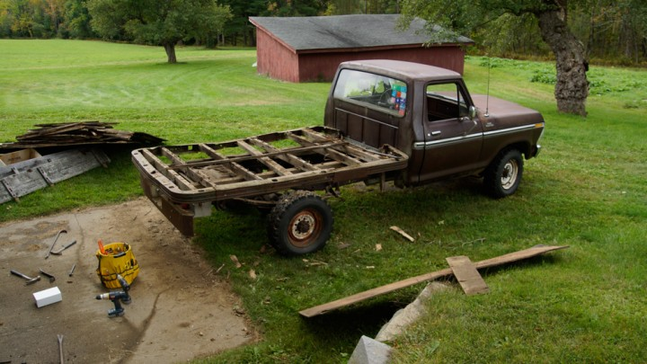 1978 F250 Flatbed teardown passenger side