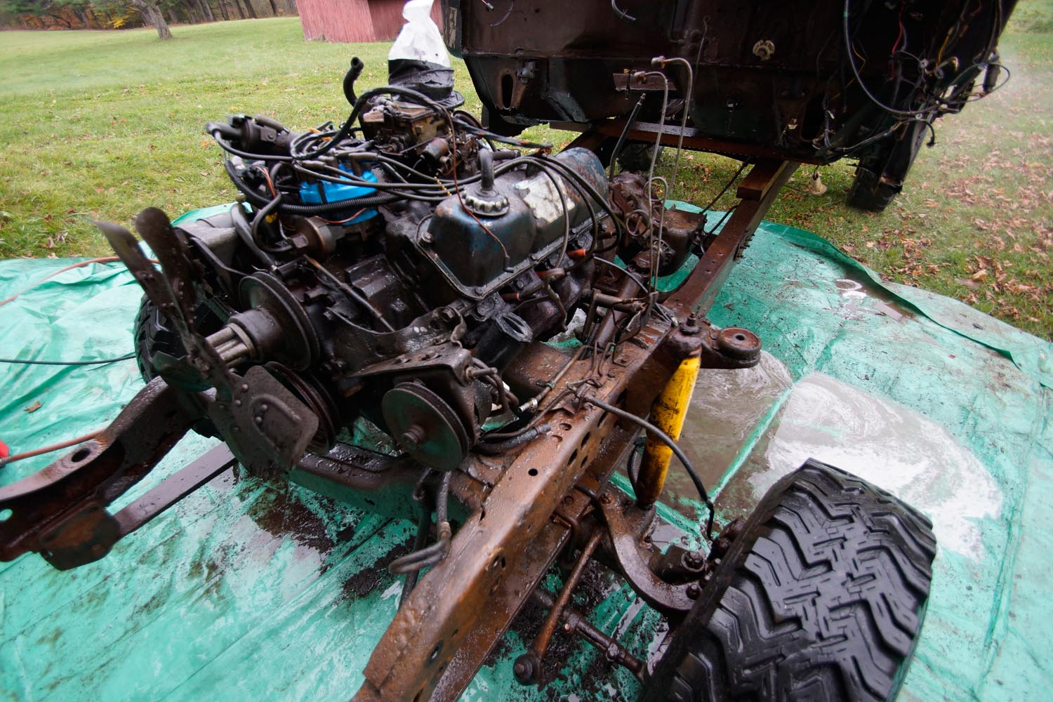 1978 Ford F250 351M Engine wash