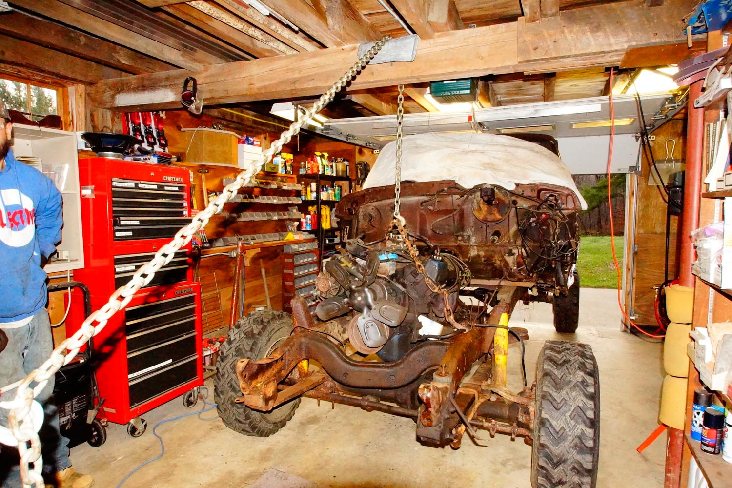 1978 Ford F250 351M Engine pull