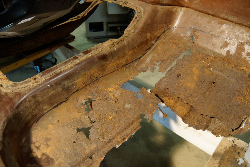 1978 Ford F250 cab floor pan replacement 1