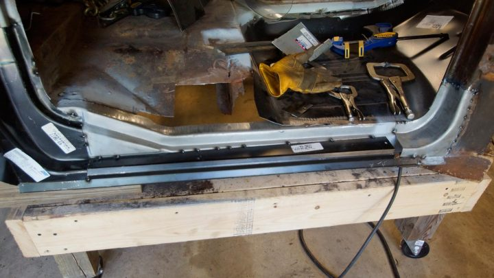 1978 Ford F250 cab rocker panel repair 1