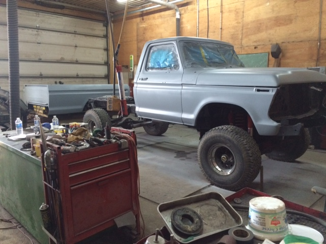 1979 Ford F150 Custom bodywork primer