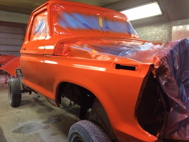 1979 Ford F150 Custom rebuild cab paint 3