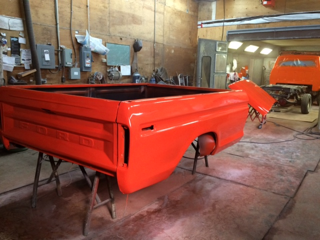 1979 Ford F150 Custom rebuild bed paint