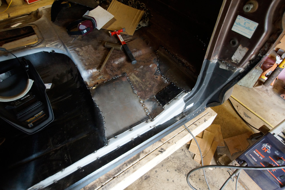 1978 Ford F250 cab floor repair 8
