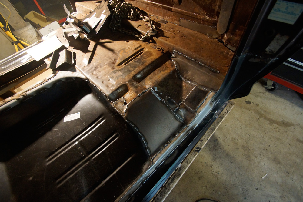 1978 Ford F250 cab floor repair 12