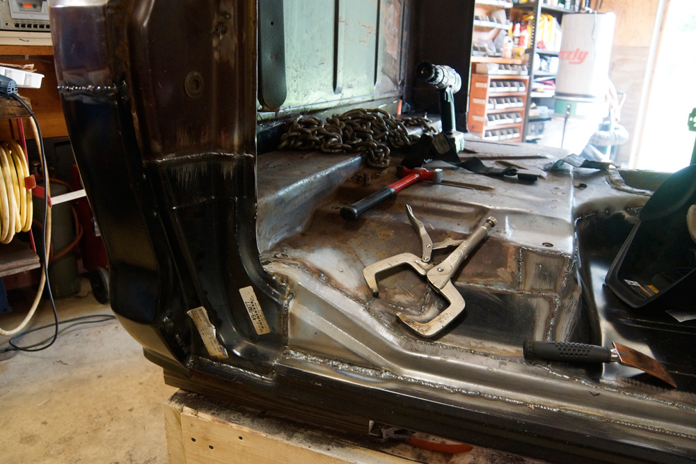 1978 Ford F250 cab floor repair 20