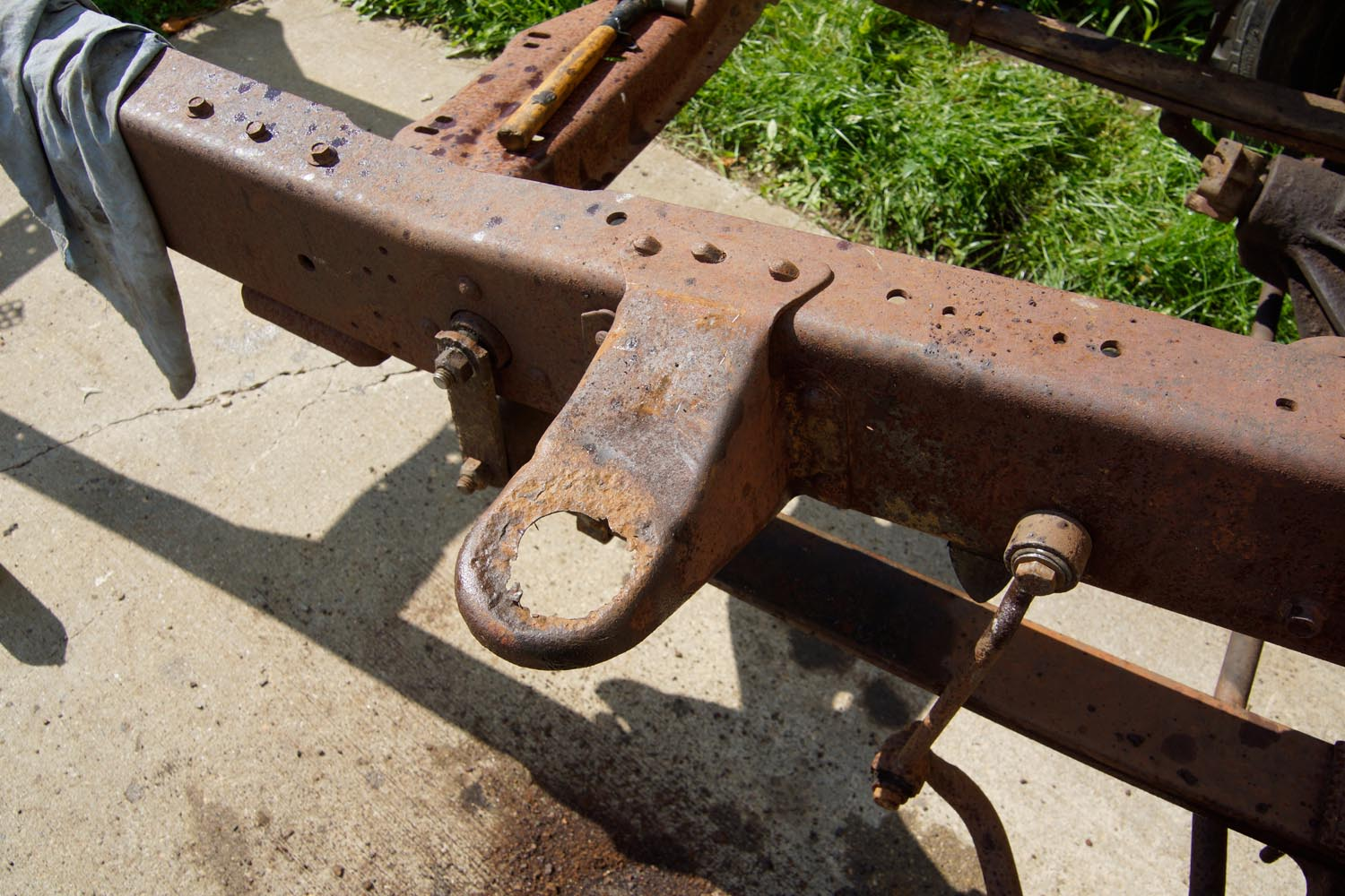 1978 Ford F250 Frame cab mount repair 9